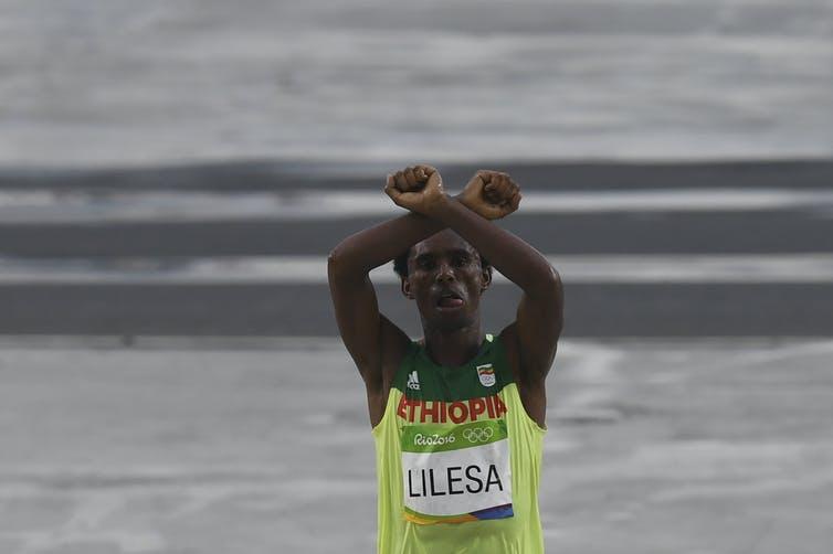 Feyisa Lilesa of Ethiopia